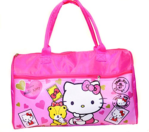gage bag, Cute Kitty with Tippy pattern, Pink. (Penguin Merlot)