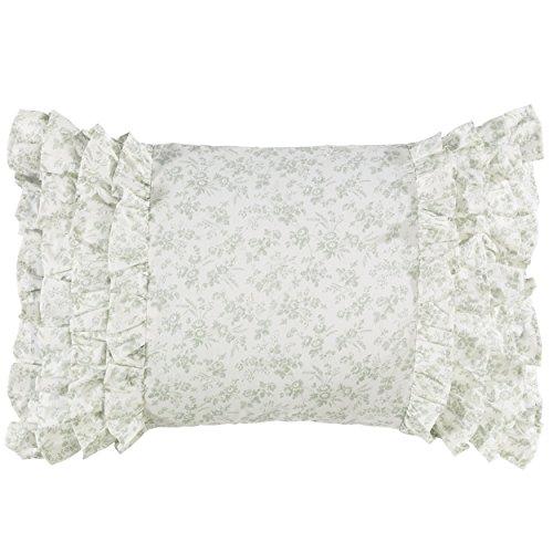 Laura Ashley 220887 Harper Breakfast Pillow, Pale Green, ()