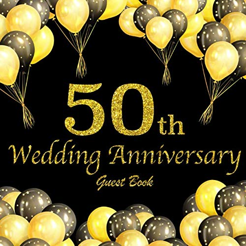 50th Wedding Anniversary Guest Book.
