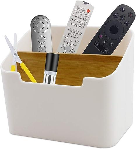 Amazon Com Motbach Remote Control Holder Desktop Plastic Pen Holder Storage Box Home Office Creative Multifunctional Desk Storage Organizer Office Products