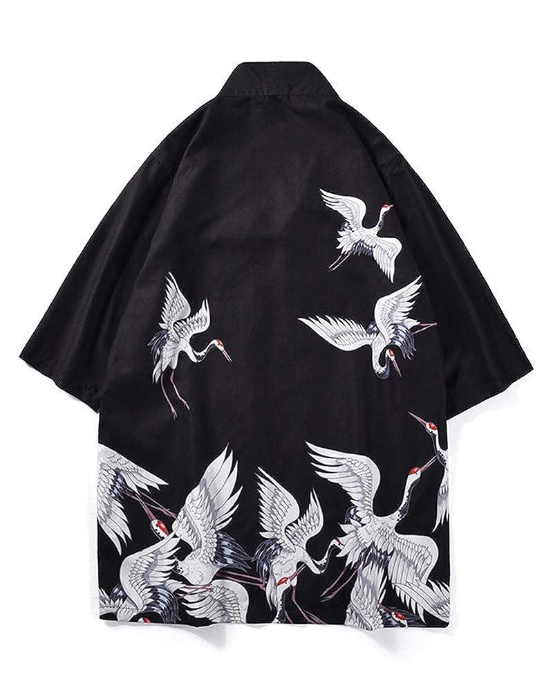 Shaoyao Cardigan Kimono Uomo Cappotto Maniche a 3//4 Collo MAO Basic