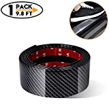 Carbon Fiber Rubber Car Door Sill Trim Bumper Protector for All auto - Door Entry Guards Scratch Cover Protector Paint Threshold Guard - Bumper Protection Strip(width2in long98in)