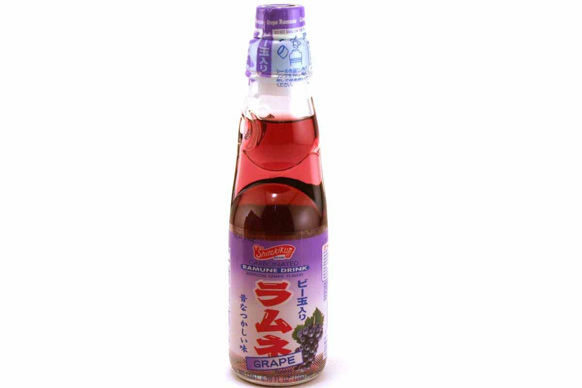 Shirakiku Ramune Carbonated Soft Drink Soda 200 ml - Grape (200 ml)