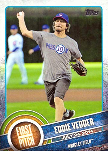 2015 Topps First Pitch #FP-04 Eddie Vedder Baseball Card - Chicago Cubs - Pearl Jam