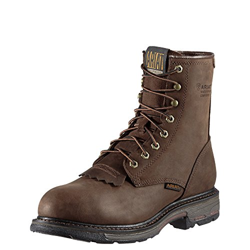 Pictures of Ariat Mens Workhog 8 inch H2O Comp 884849577820 Oily Distressed Brown 1