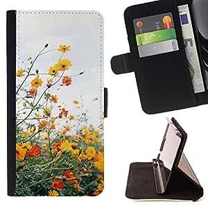 Momo Phone Case / Flip Funda de Cuero Case Cover - Campo Nubes de verano de la margarita Sun Warm - Sony Xperia M2