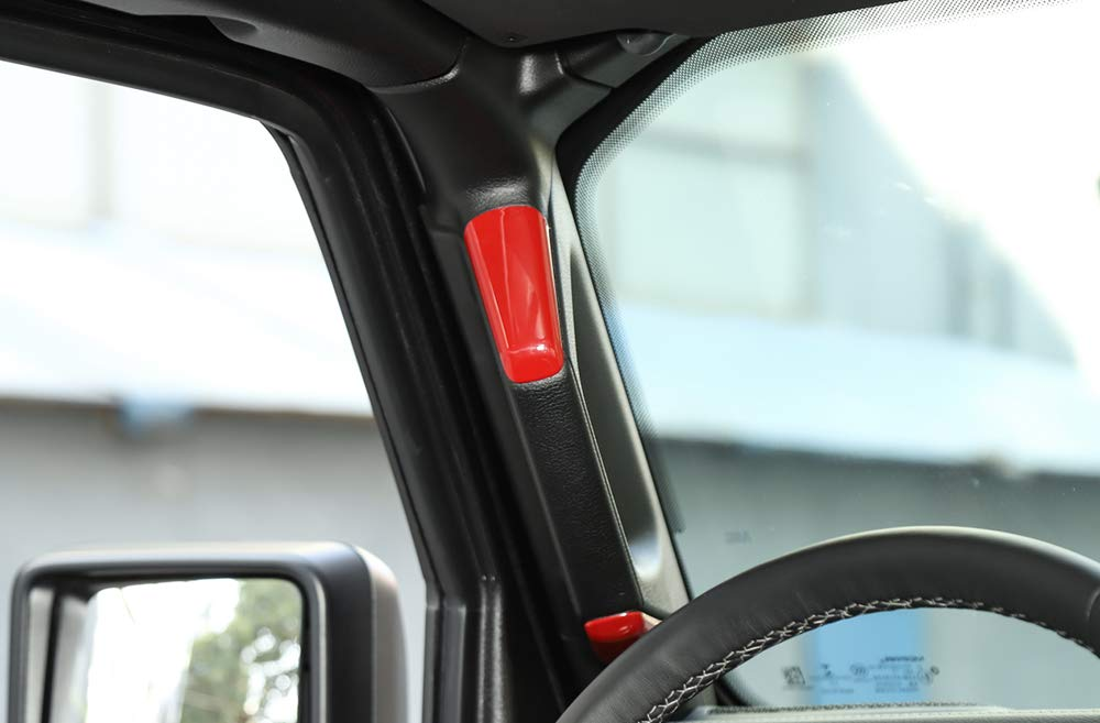 BORUIEN Rear Tail Door Window Hinge /& Rear Rain Wiper Nozzle Decorative Cover Trim for Jeep Wrangler JL 2018+ Red, Rear Window Hinge /& Nozzle Decor