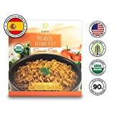 Healthee Organic Brown Rice, Gluten Free, Fully Cooked and Ready-to-Eat, USDA Certified Organic, GMO-Free, Microwaveable, 100% Whole Grain - Pack of 12 (Spanish Style)