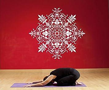 Amazon Com Wall Window Decal Sticker Mandala Flower Yoga Hindu