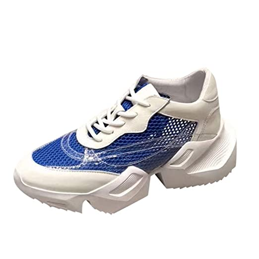 aaef5abf4c Amazon.com: Women Fashion Cross-Tied Sneakers Summer Mesh Ultra ...