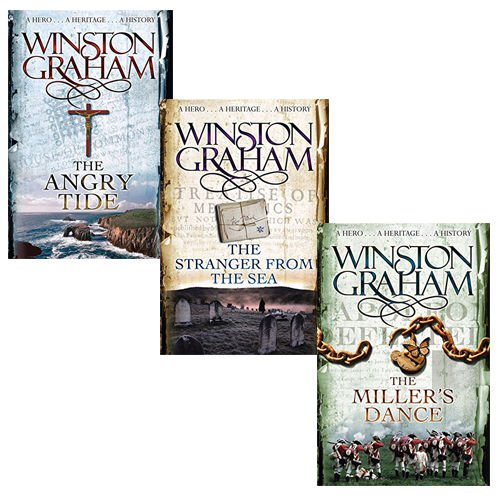 Winston Graham Collection 3 Books Set (Poldark Series Books 7 8 9), (The Angry Tide: A Novel of Cornwall 1798-1799, The Stranger From The Sea: A Novel of Cornwall 1810-1811 and The Miller's Dance: A Novel of Cornwall 1812-1813) 1810 Collection