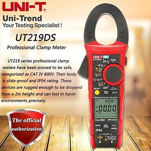 Ut219ds True Rms Professionelles Zangenmessgerät Ip54 Staub Wasserdichtes Digitales Amperemeter Loz Spannungsmessung Baumarkt