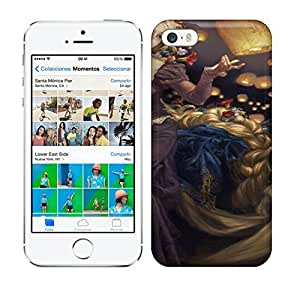Best Power(Tm) HD Colorful Painted Watercolor Rapunzel, Tangled Gorgeous Disney Ladies As If They Were Oil Portraits Hard Phone Case For Iphone 5/5S wangjiang maoyi