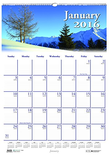 "House of Doolittle 2016 Monthly Wall Calendar, 12"" x 16.5"", Earthscapes Scenic (HOD378-16)"