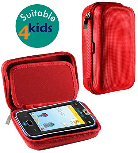 Navitech Red Premium Travel Hard Carry Case Cover Sleeve Compatible with The Vtech Kidibuzz