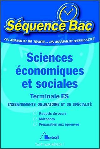Lire en ligne Sciences économiques et sociales. Terminale ES pdf