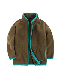Canvos Baby Boys' Zipper Steens Polor Fleece Mock Neck Jacket Toddler Warm Coat