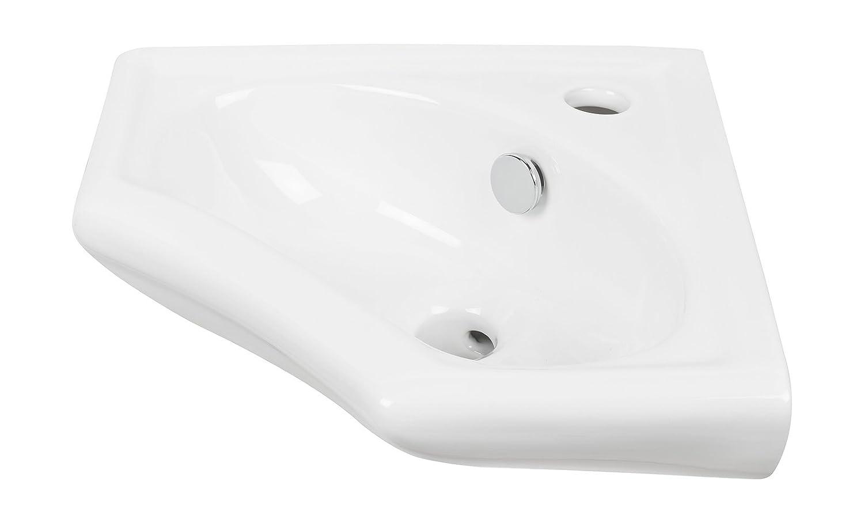 Eckhandwaschbecken scaLma | 34 cm | Weiß | Eckwaschbecken ...