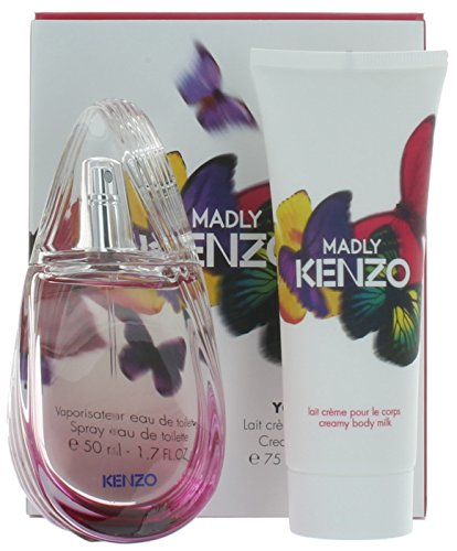 Madly Travel Exclusive by Kenzo for Women Gift Set: EDT 1.7 oz.+Creamy Body Milk 2.5 oz. New in Box