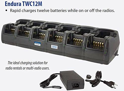 Endura Multi-Chemistry Li-Ion / Li-Po / NIMH / NiCD 12-Bay Radio Battery Charger for HARRIS Radios, 120 VAC, 12V/24V DC operation with Optional DC Kit, (Not Included) Works with HARRIS: P5400 Series / P5300 / P5350 / P5370 / P5450 / P5470 / P5500 / P5550 / P5570 / P7300 / P7350 / P7370 / XG-25P / XG-75P (P5500 Series)