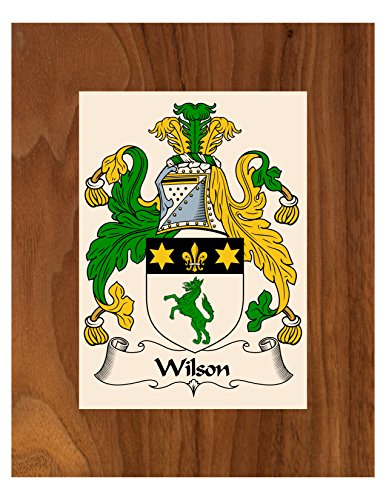 Carpe Diem Designs Wilson Coat of Arms/Wilson Family Crest 8X10 Photo Plaque, Personalized Gift, Wedding ()