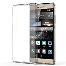 Huawei P8 Case - MoKo Halo Series Back Cover with TPU Cushion Technology Corners + Clear Back Panel Bumper Cover for Huawei P8 5.2 Inch Smartphone 2016 Release, Crystal CLEAR