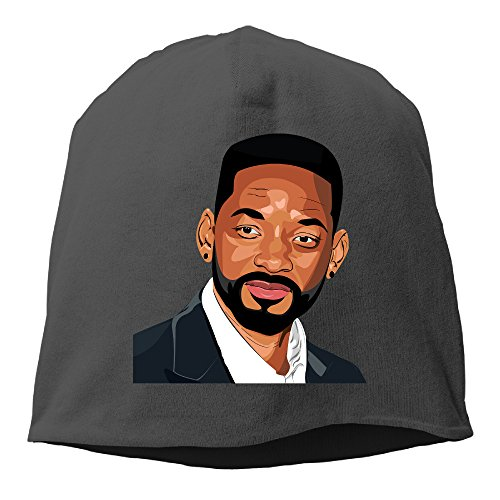 YUVIA Will Smith Men's&Women's Patch Beanie CampingBlack Caps For Autumn And Winter