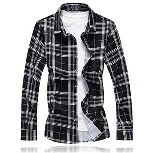 Mistere Slim men Long sleeves Casual mens shirts dress camisa social slim Fashion New Spring Autumn Cool 9716 BlackAsia size M