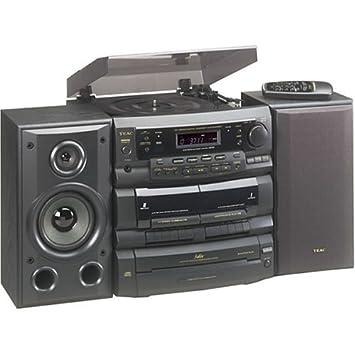 Amazon.com: TEAC dc-d6300 3-cd estante sistema con Turntable ...