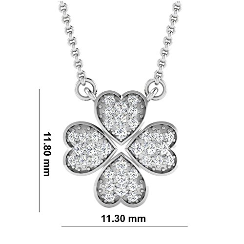 Libertini Colliar argent 925 plaque or Jaune serti de Diamant en forme de Fleur