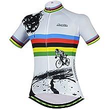 Womens Cycling Jersey Aogda Short Sleeve 3d Silicon Padded Girls Bib Shorts Bicycle Bike Cycle Clothing Wear/Shirt D914