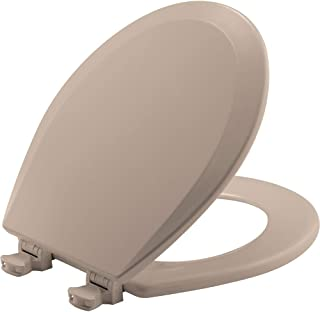 product image for BEMIS 500EC 068 Toilet Seat with Easy Clean & Change Hinges, ROUND, Durable Enameled Wood, Fawn Beige