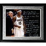 NCAA Syracuse Orange Framed 16x20 Jim Boeheim Facsimile 'Recruiting Carmelo' Story Photo