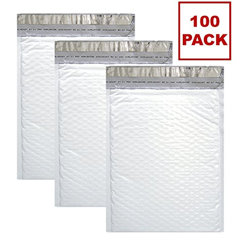 Sales4Less #000 Poly Bubble Mailers 4X8 inches Padded Envelope Mailer Waterproof Pack of 100 by Sales4less