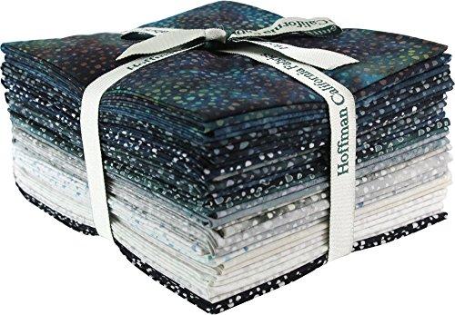 Bali Batiks Bali Dots Zinc 20 Fat Quarter Bundle Hoffman Fabrics 885FQ-618 by Hoffman Fabrics