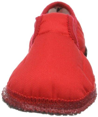 Haflinger Unisex-Kinder Pantoffeln Rot (Rubin 411)