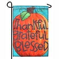 HAKDAY Pumpkin Garden Flag for Thanksgiving Day, 12 x 18 inches