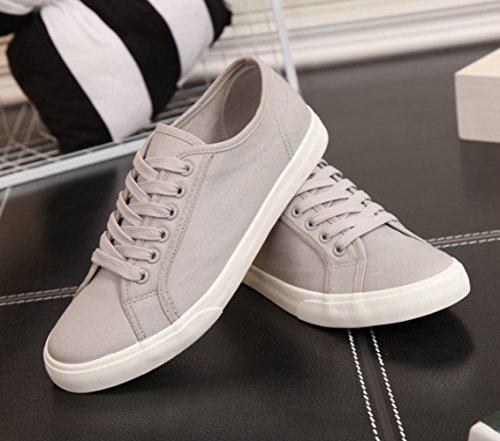 di uomini da uomo amanti estive di casual scarpe XFF scarpe Scarpe bianche selvatici Grigio da tela scarpe basic stoffa scarpe uomo xHqwfxY5