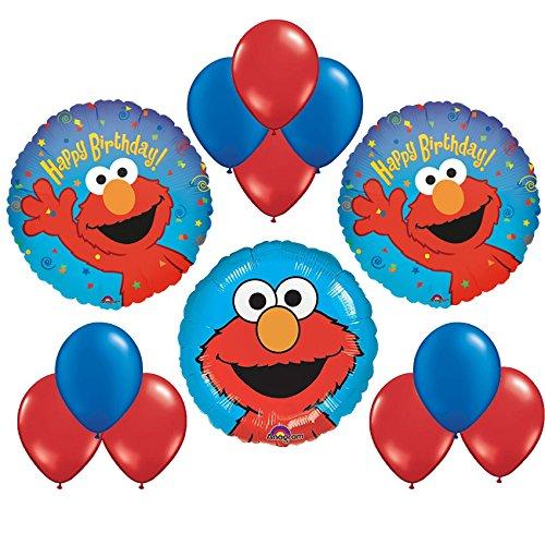 Sesame Street Elmo Happy Birthday Balloon Bouquet 13pc ()