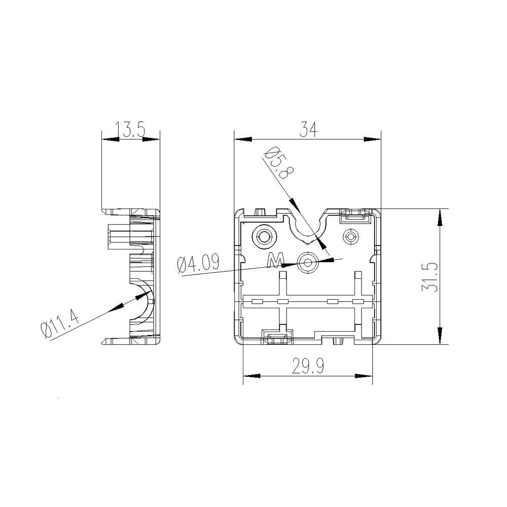 Spring Pack of 4set with 8mm Graphite Bearing Sleeve WINSINN Technology Ltd WINSINN Injection Molding Kit for Ultimaker 2 UM2 Slider