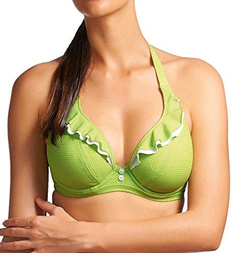 Lime Bikini Swimsuit (Freya Cherish Halterneck Bikini Top Lime Green US30F)
