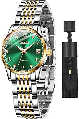OLEVS Automatic Watch for Women Waterproof Stainless Steel Mechanical Watches Luxury Dress Self Winding Wrist Watch Small Face Ladies Swiss Watches WeeklyReviewer