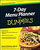 7-Day Menu Planner for Dummies, Consumer Dummies Staff and Susan Nicholson, 0470878576