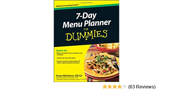 7 day menu planner