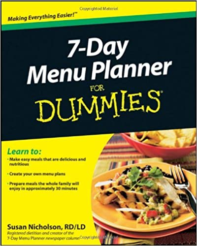 Book 7-Day Menu Planner For Dummies
