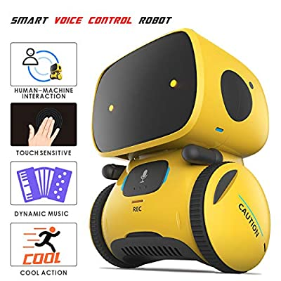 Smart Robot Remote Control Toys - Mini Speech Dialogue Singing Talking Voice Mimicking Mama Dada Touch Sound Smart Learning Robotics Educational Toys Gift for Boys Girls Toddlers Age 2 3 4 5 6