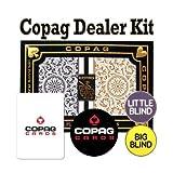 Copag Playing Cards Dealer Kit - 1546 Black/Gold Poker Regular