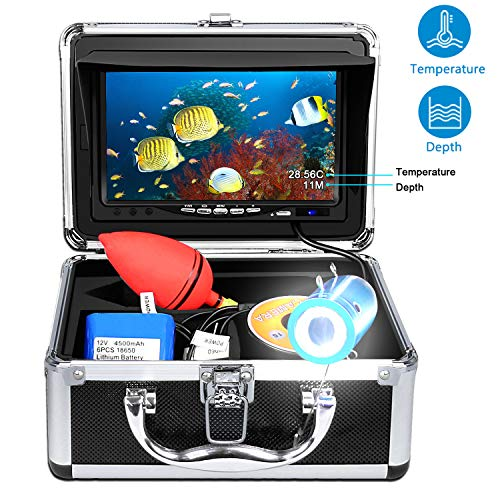 Portable Underwater Fishing Camera with Depth Temperature Display-Waterproof HD Camera and 7