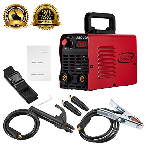 Arc Welder 110V 200A Welding Machine IGBT Inverter DC mini Electric Welders free Accessories Tools High Frequency Household Smart Welder for Novice Welders fits 3.2mm weling rods stick