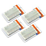 ZYAMY 4pcs 400 Tie Point Prototype Solderless PCB Breadboard Test Protoboard DIY Bread Board With Self-Adhesive Tape